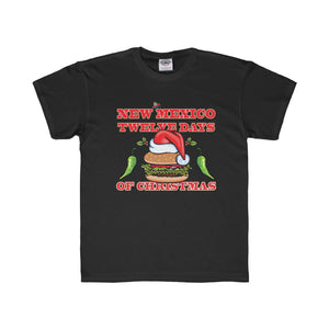 NM 12 Days of Christmas with Santa Hat GBBC and Chiles (Youth Tee)
