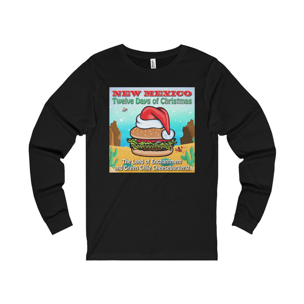 Album Cover - New Mexico Twelve Days of Christmas (Adult Long Sleeve Tee)