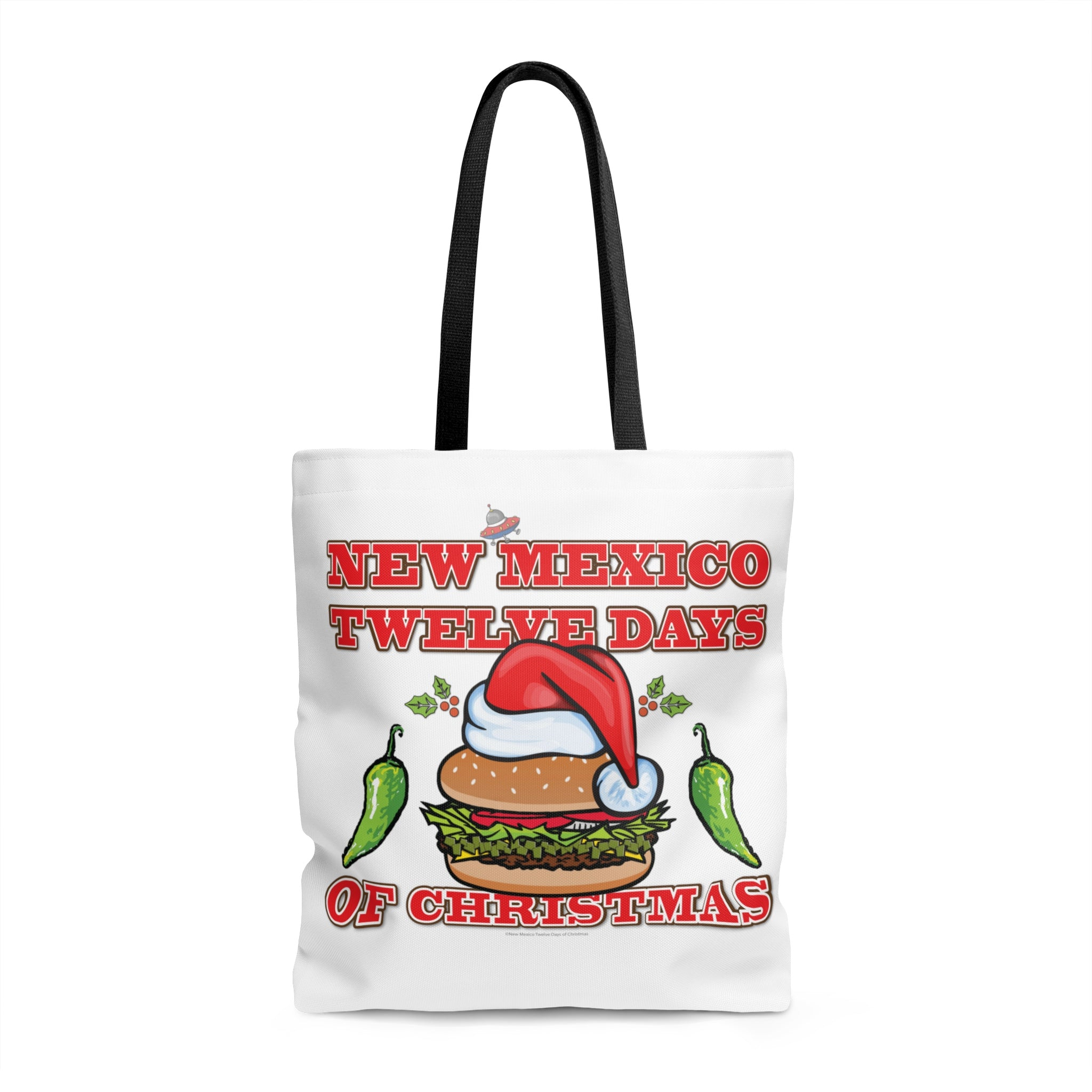 NM 12 Days of Christmas with Santa Hat GBBC and Chiles (Tote Bag)