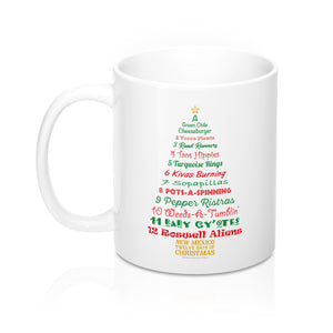 A Tree List of Days - New Mexico Twelve Days of Christmas (11oz Mug)