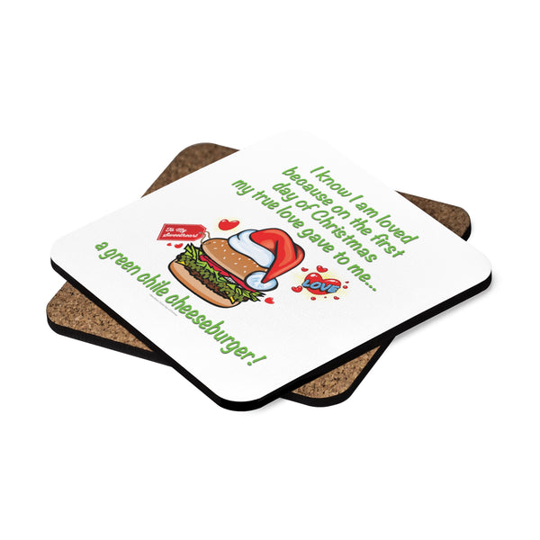 I Know I am Loved - New Mexico Twelve Days of Christmas (Square Coaster Set - 4pcs)