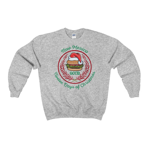 A Santa Hat GCCB with Chile Wreath - New Mexico Twelve Days of Christmas (Sweatshirt)