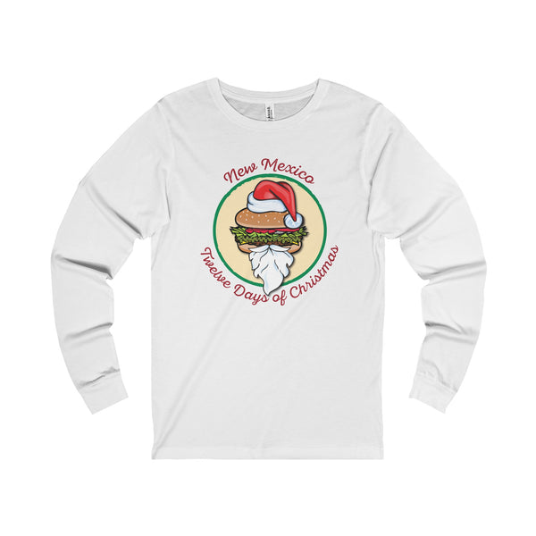 NM 12 Days Santa GCCB with Wreath (Adult Long Sleeve Tee)