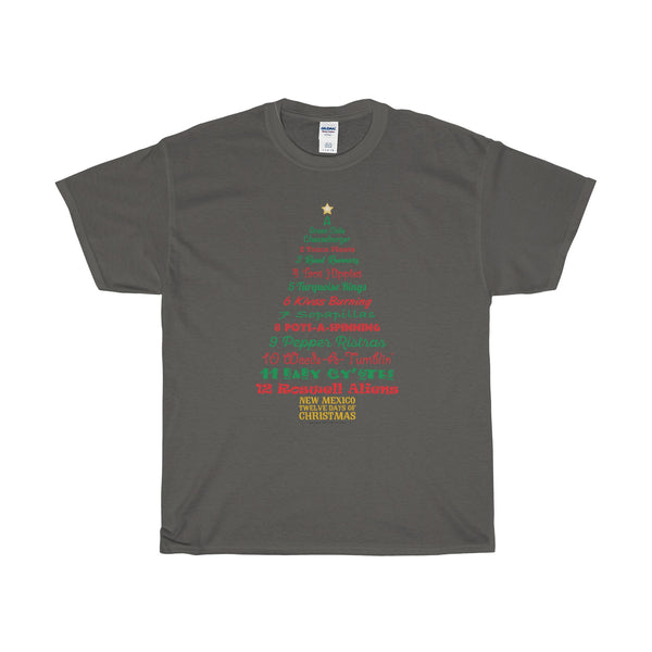 A Tree List of Days - New Mexico Twelve Days of Christmas (Adult Tee)