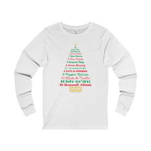A Tree List of Days - New Mexico Twelve Days of Christmas (Adult Long Sleeve Tee)