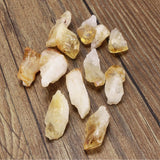 12pcs Citrine Yellow Quartz Crystal (15-30mm 0.5-1.1inches)