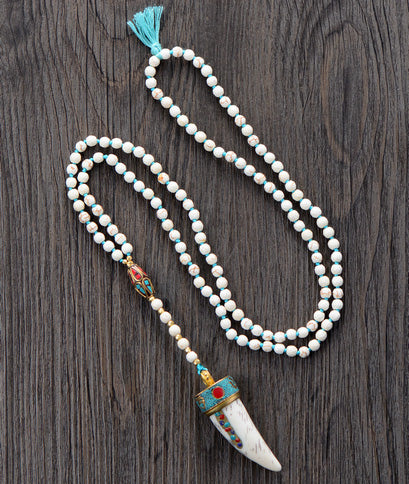Turquoise Meditation Rosary Necklace Dropship