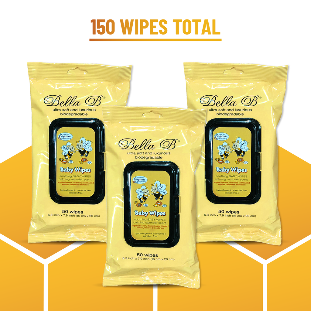 Soothing Baby Diaper Wipes 50ct - 3-Pack