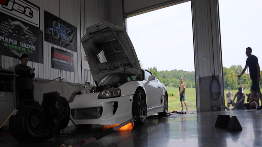 DIESEL & GAS DOUBLE DYNO DAY! 1000+ HP JDM Supra catches FIRE