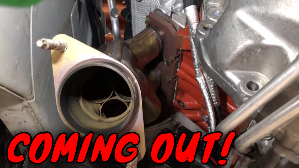 The COMPLETE removal of Dodge Charger exhaust manifolds.