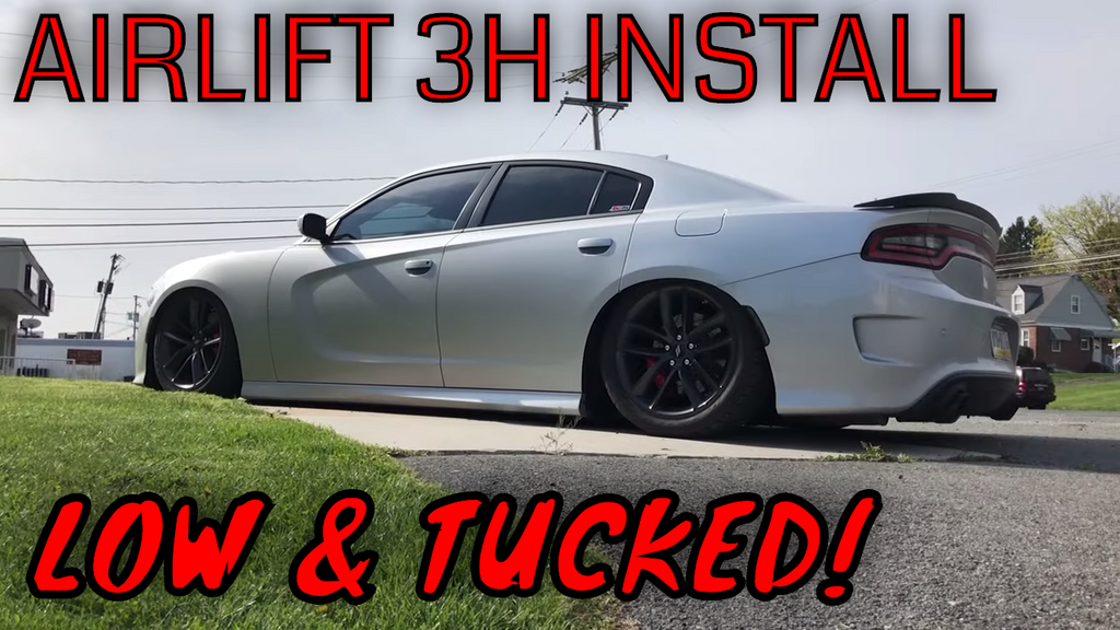 WE'RE BAGGING THE CHARGER! Air Lift Performance 3H Air Suspension Installation