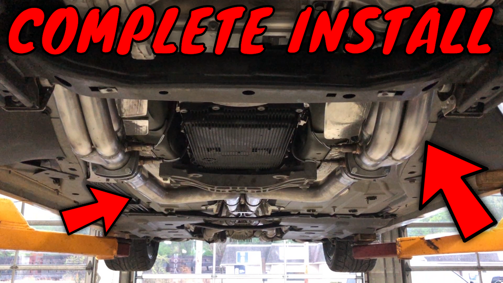 DETAILED Installation of Corsa Dodge Charger Long Tube Headers & Connection Pipes.