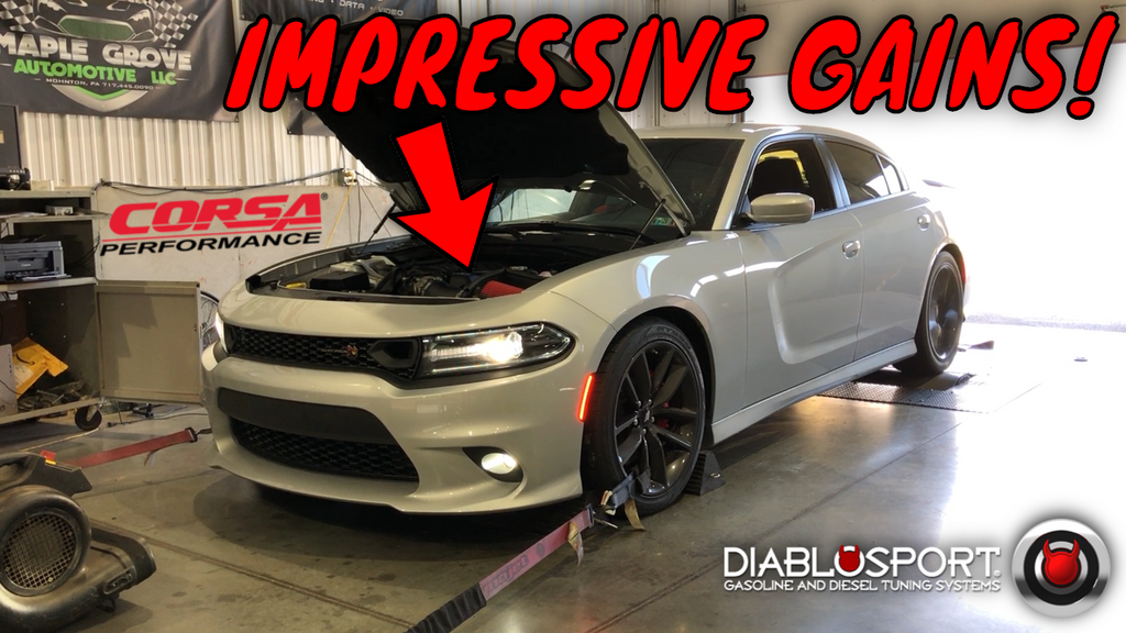 INSTALL & RESULTS 2011+ Dodge Charger Corsa CAI & DiabloSport Full Tuning Dyno Testing