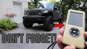 Don't forget this IMPORTANT step, after installing LARGER tires on your Jeep.