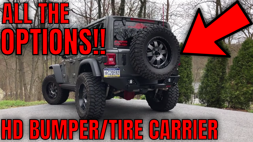 Jeep Wrangler JL LoD Destroyer Shorty Rear Bumper & Tire Carrier Installation + Review