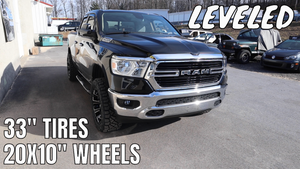 "SIMPLE LEVELING 2019 Ram 1500 w/ 20X10"" Wheels & 33"" Nittos"