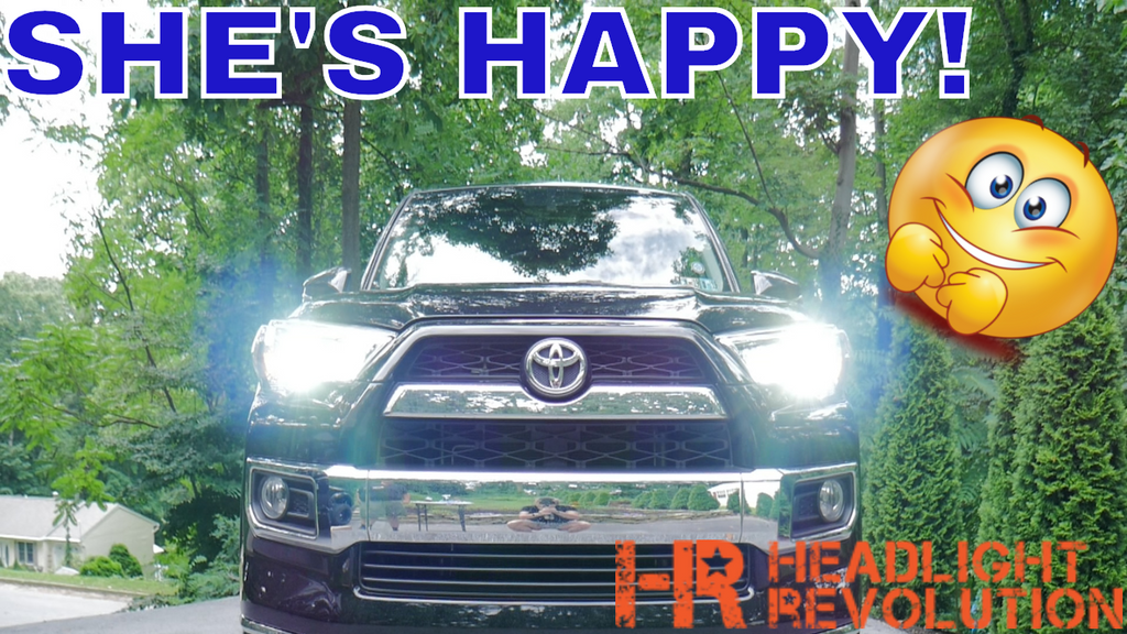 2018 4Runner Limited is fixed! HID vs LED Headlight Low