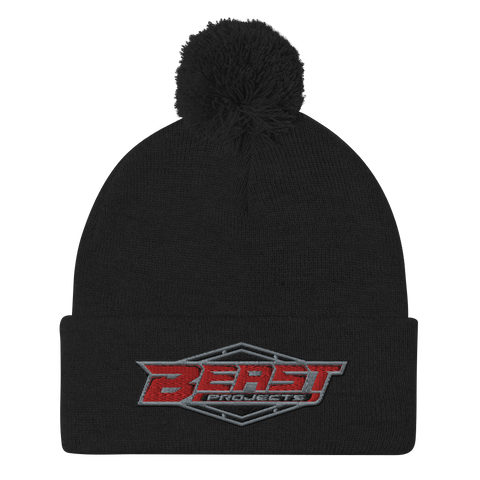 BEAST PROJECTS PATCH LOGO POM-POM BEANIE