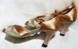 Style #72 Custom Rhinestoned Dance Shoes- 7.5