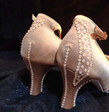 Style #7 Custom Rhinestoned Closed Toe Ballroom Dance Shoes- Size 9.5