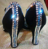 Style #47 Custom Rhinestoned Dance Shoes- 9.5