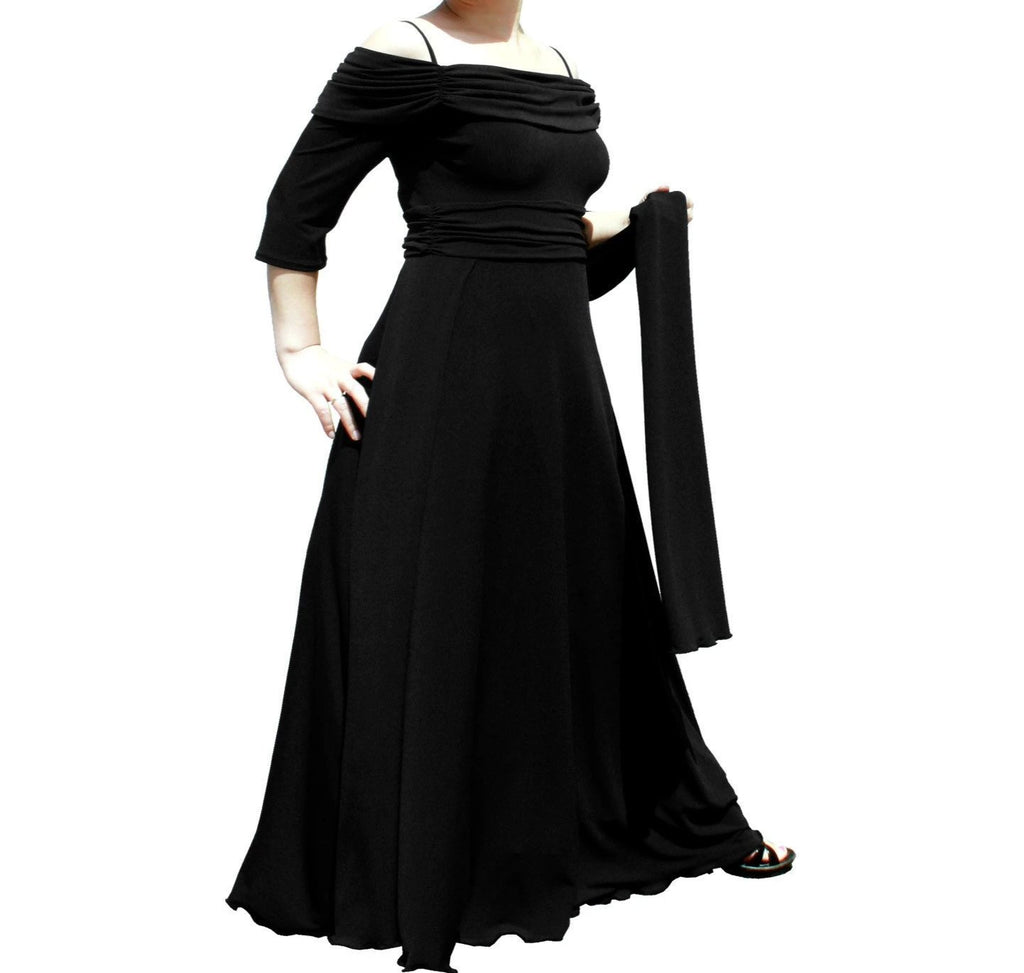 3/4 Sleeve Ruched Dance or Event Dress