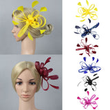 Feather Fascinator Hair Brooch with Clip Pin