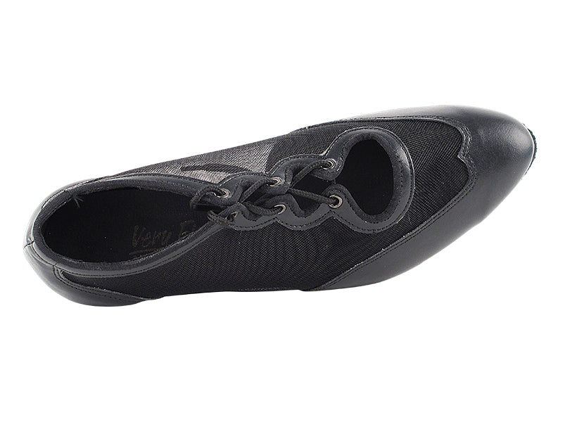 Classic Series Black Leather & Mesh Ballroom Practice Dance Shoe
