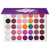 35 Color Pigmented Eyeshadow Palette with Glitter- Winter