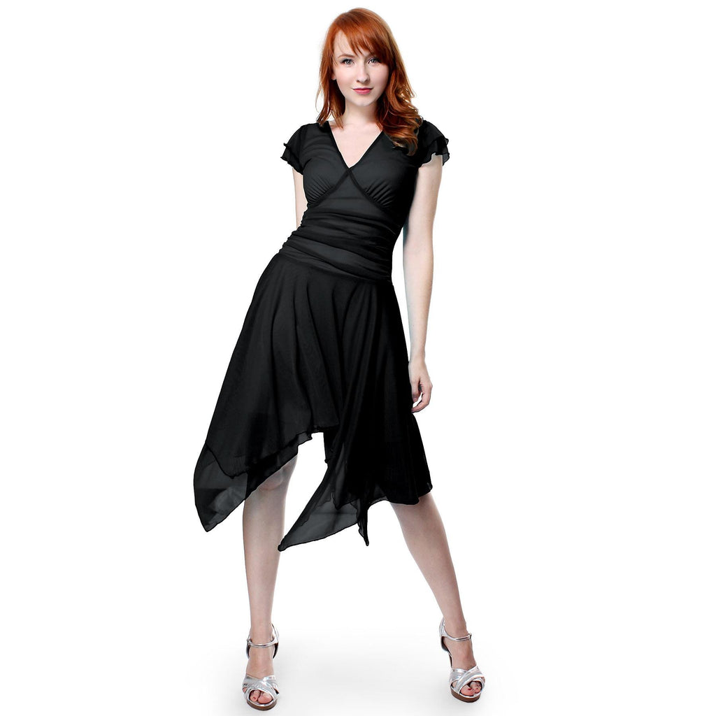 Double Layers Asymmetrical Handkerchief Skirt Dress- More Colors!