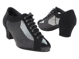 C Series Black Nubuck and Mesh Practice Dance Shoe