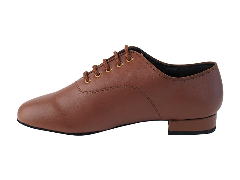 C Series Brown Leather Ballroom Shoe