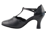 C Series Closed Toe Black Leather Smooth/Standard Dance Shoe