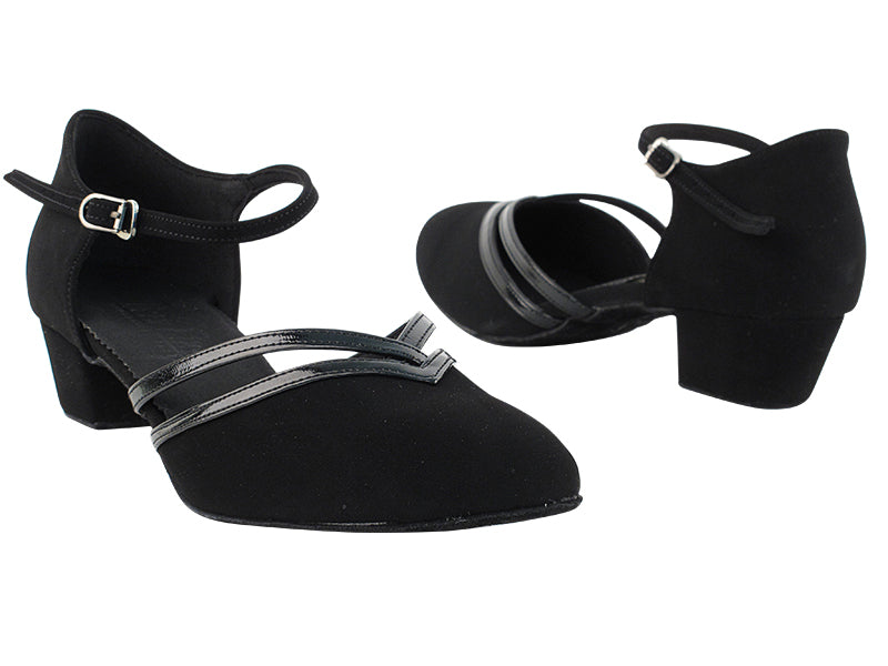 C Series Black Nubuck Low Heel Dance Shoe