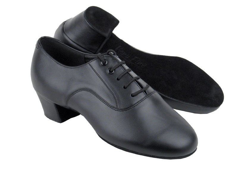 C Series Black Leather Dance Shoe- Wide Width