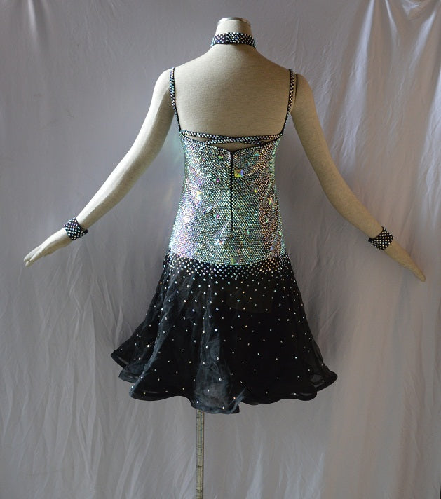 Rhinestone Bodice Rhythm & Latin Ballroom Dance Dress