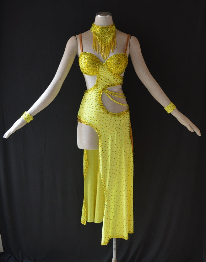 Say YES to Yellow!!! Rhythm & Latin Ballroom Dance Dress