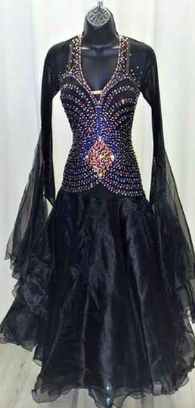 Midnight Maven Ballroom Dance Dress