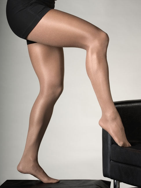 High Gloss Footed Nylons / Tights- Suntan