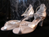Style #21 Custom Rhinestoned Dance Shoes- 7.5