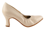 Signature Series Closed Toe Light Tan Leather Smooth/Standard Dance Shoe