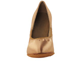 Signature Series Closed Toe Tan Satin Smooth/Standard Dance Shoe