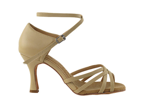 52690c2c76dee7 products SERA1606 Beige Brown Leather 2.jpg. Add to wishlist. Quick View. Sera  Series Beige Leather Dance Sandal