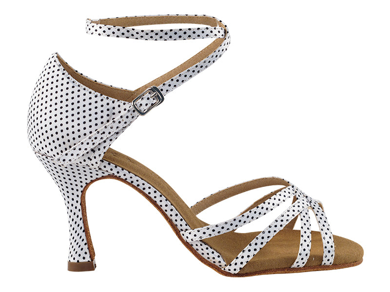 Sera Series White w/ Black Dots Dance Sandal