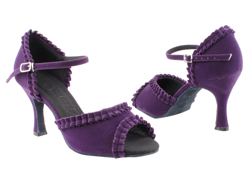 Sera Series Purple Velvet Dance Sandal