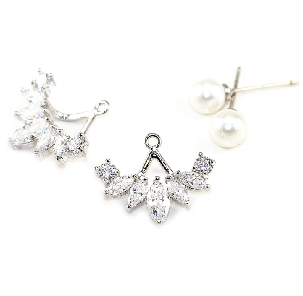Iced Pearl & Rhinestone Earrings