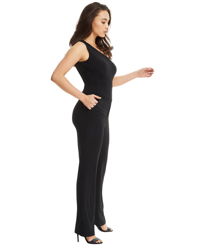 Black One Shoulder Jumpsuit