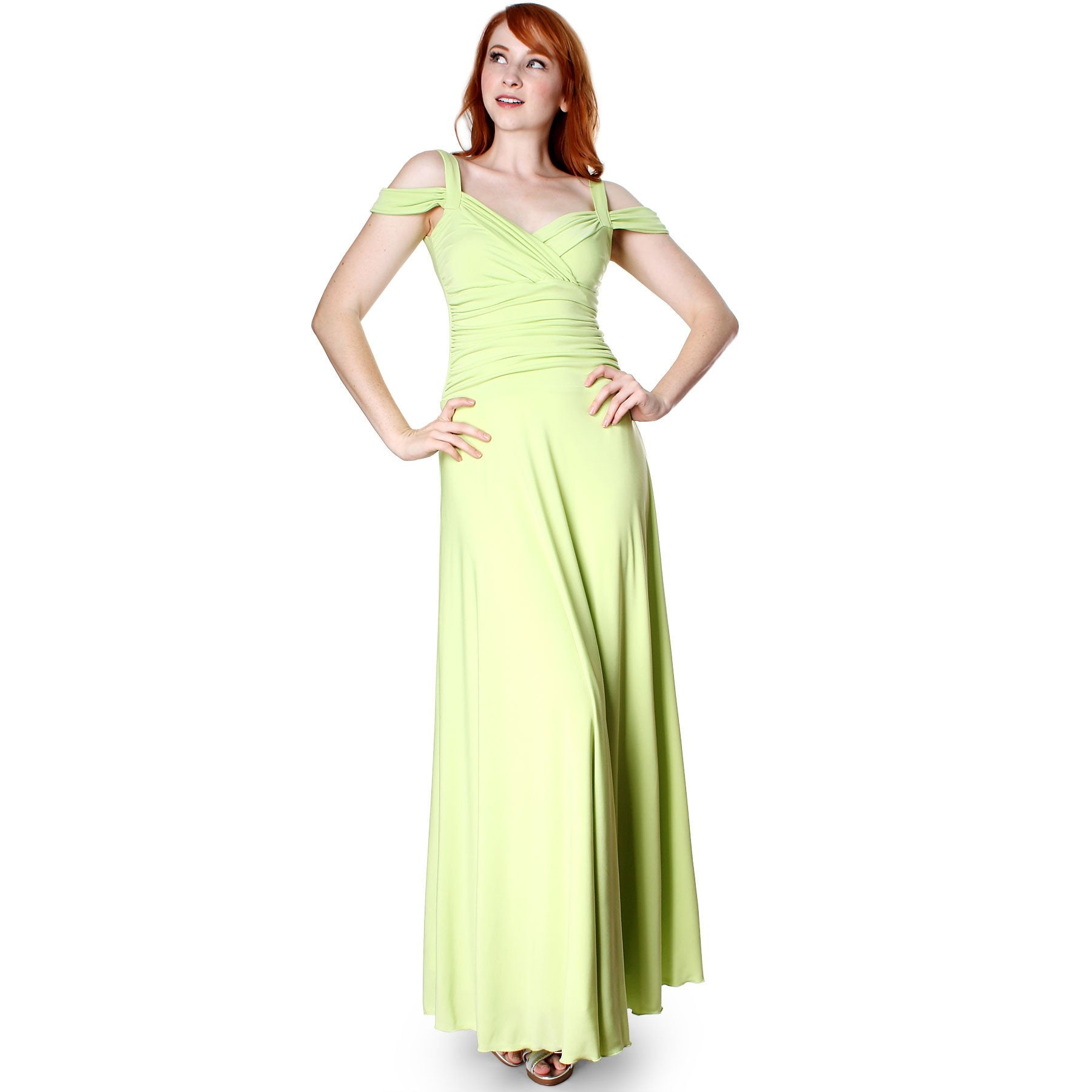 Women's Slip On Elegant Formal Long Evening Dress