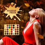 35 Color Pigmented Eyeshadow Palette with Glitter- Autumn