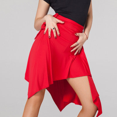 Layered Short to Mid Wrap Skirt